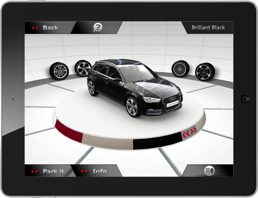 Arworks 3d salon for audi in augmented reality for iphone for Motor trend app not working